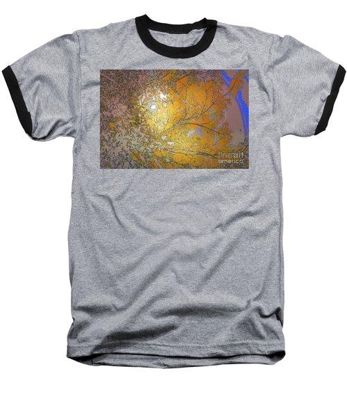 Autumn Sun Baseball T-Shirt by Deborah Nakano