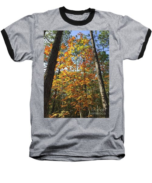 Autumn Sunday Baseball T-Shirt