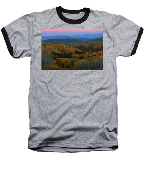 Autumn Sunrise At Rainbow Ridge Colorado Baseball T-Shirt by Jetson Nguyen