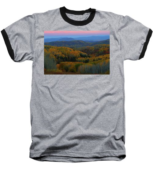 Autumn Sunrise At Rainbow Ridge Colorado Baseball T-Shirt