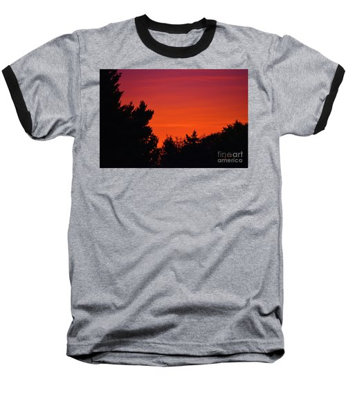 Autumn Sunrise Baseball T-Shirt