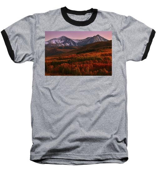 Autumn Sunset At Conway Summit In The Eastern Sierras Baseball T-Shirt