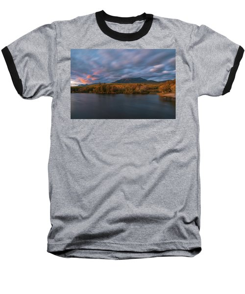 Autumn Sunset At Mount Katahdin Baseball T-Shirt