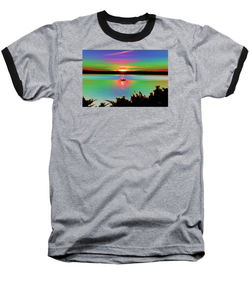 Autumn Sunset Baseball T-Shirt