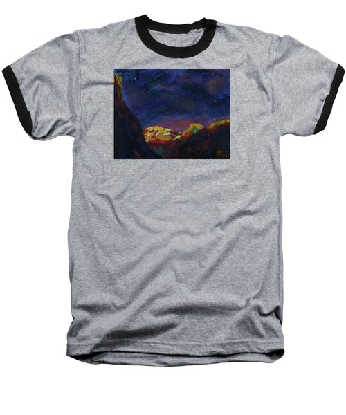 Autumn Sunset Over Half Dome 2013 A Baseball T-Shirt by Walter Fahmy