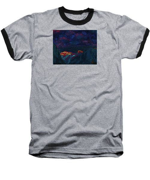 Autumn Sunset Over Half Dome 2013 B Baseball T-Shirt by Walter Fahmy