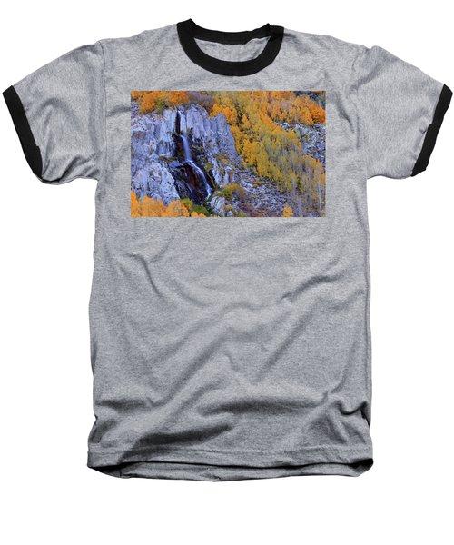Autumn Surrounds Mist Falls In The Eastern Sierras Baseball T-Shirt