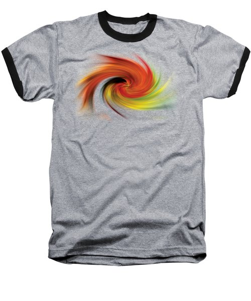 Baseball T-Shirt featuring the photograph Autumn Swirl by Debra and Dave Vanderlaan