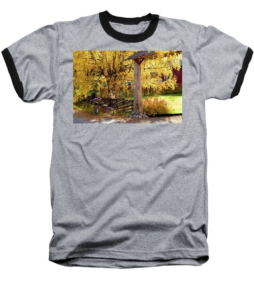 Rural Rustic Autumn Baseball T-Shirt by Tamara Sushko