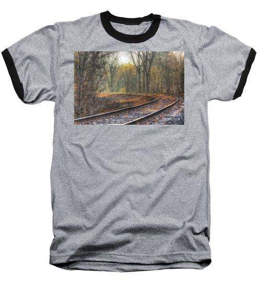 Autumn Tracks Baseball T-Shirt