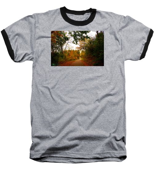 Baseball T-Shirt featuring the photograph Autumn Trail by Michael Rucker