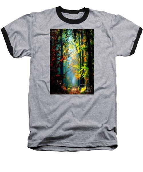 Autumn Trails In Georgia Baseball T-Shirt