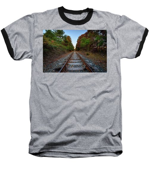 Autumn Train Baseball T-Shirt