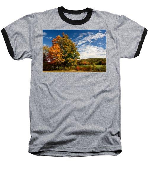 Autumn Tree On The Windham Path Baseball T-Shirt