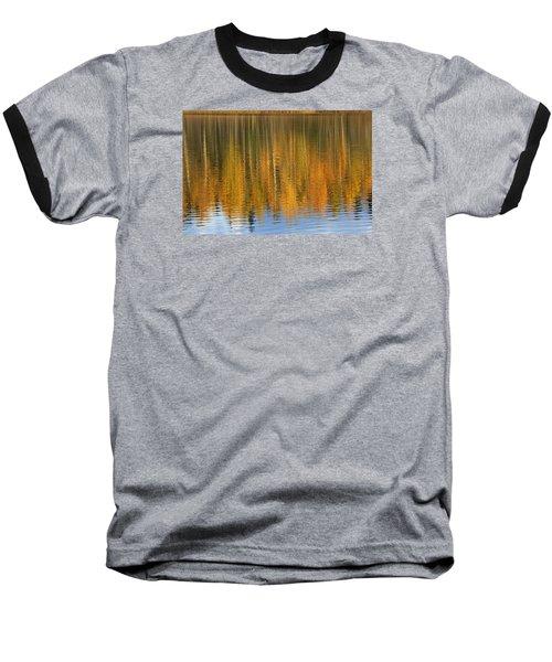 Autumn Tree Reflections Baseball T-Shirt by Elvira Butler