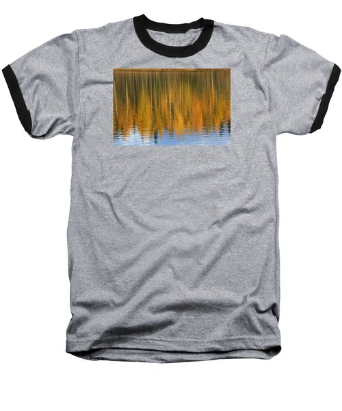 Autumn Tree Reflections Baseball T-Shirt