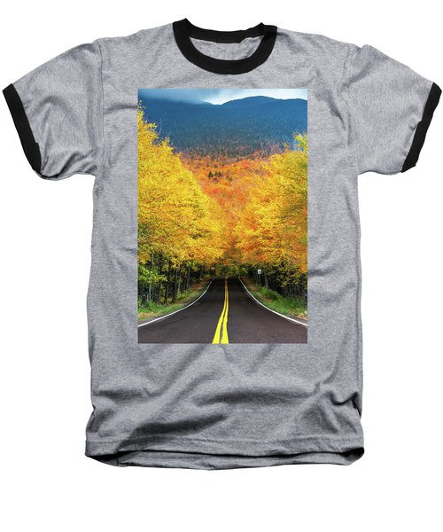 Autumn Tree Tunnel Baseball T-Shirt