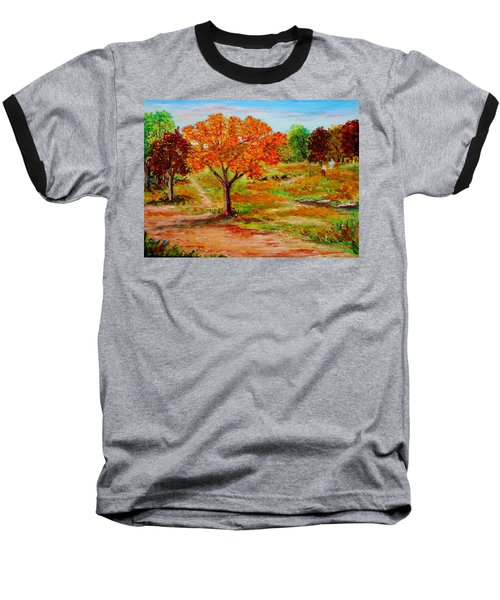 Autumn Trees Baseball T-Shirt