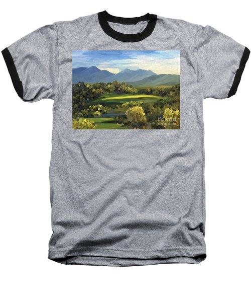 Baseball T-Shirt featuring the painting Autumn Trees by Ivana Westin