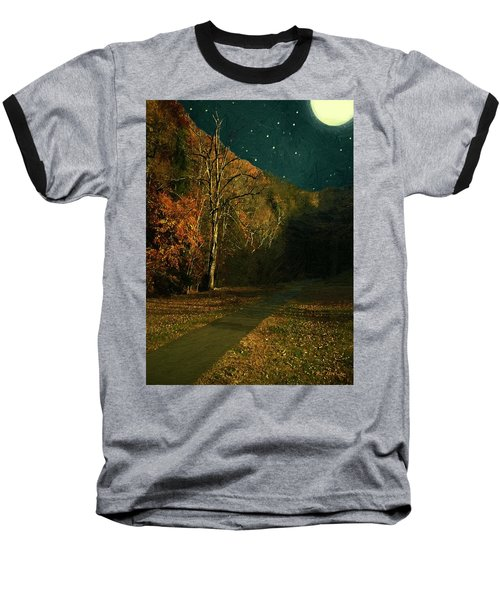 Autumn Tunnel Baseball T-Shirt