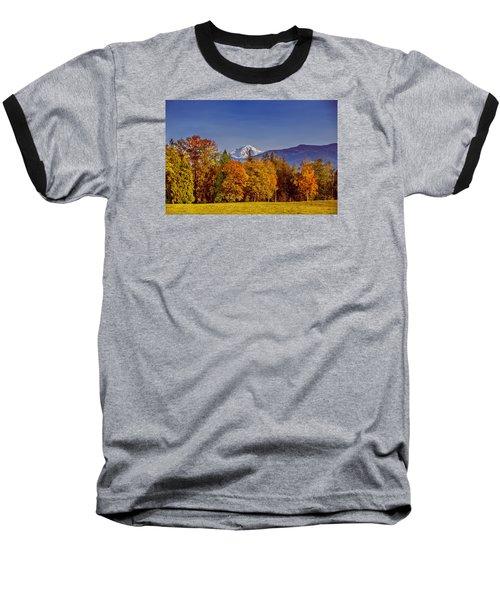 Autumn View Of Mt. Baker Baseball T-Shirt