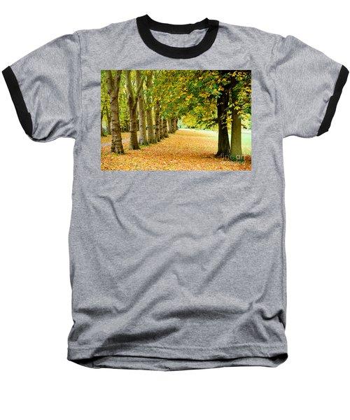 Autumn Walk Baseball T-Shirt by Colin Rayner
