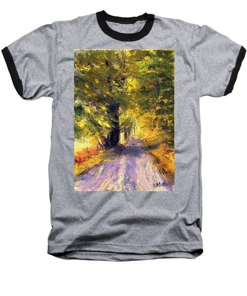 Baseball T-Shirt featuring the painting Autumn Walk by Gail Kirtz