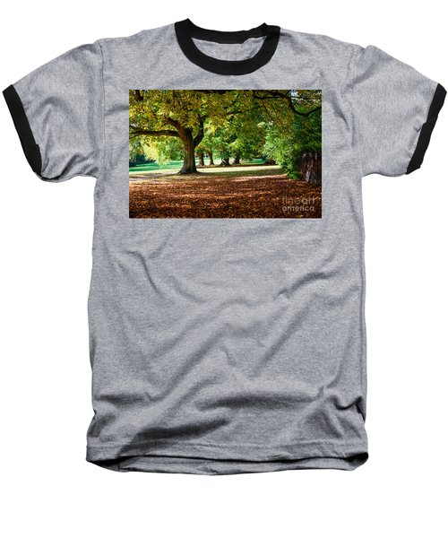 Baseball T-Shirt featuring the photograph Autumn Walk In The Park by Colin Rayner