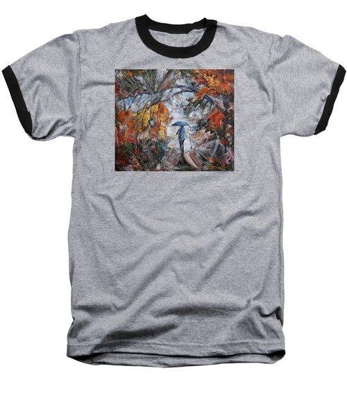 Autumn Walk Baseball T-Shirt