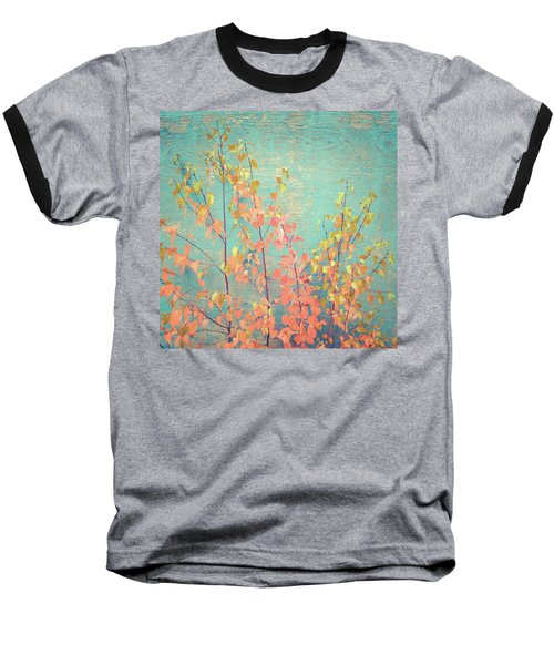 Baseball T-Shirt featuring the photograph Autumn Wall by Ari Salmela