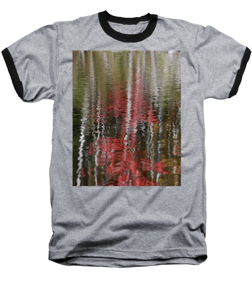 Baseball T-Shirt featuring the photograph Autumn Water Color by Susan Capuano