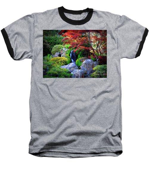 Autumn Waterfall Baseball T-Shirt