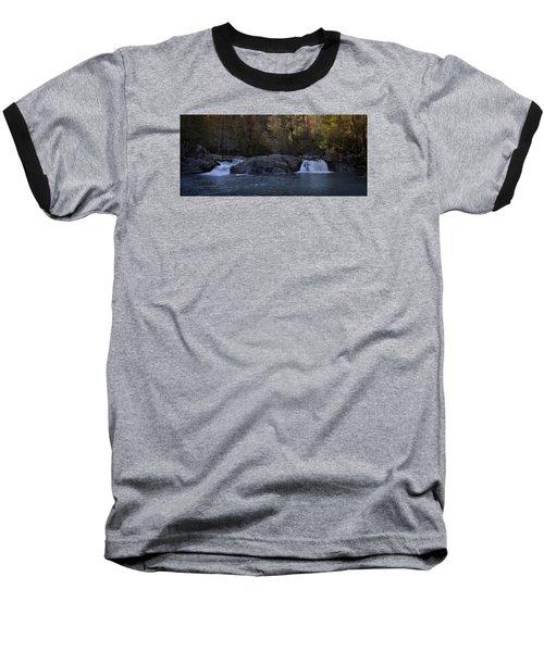 Baseball T-Shirt featuring the photograph Autumn Waterfall  by Ellen Heaverlo