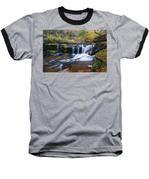 Baseball T-Shirt featuring the photograph Autumn Waterfall by Steve Stuller