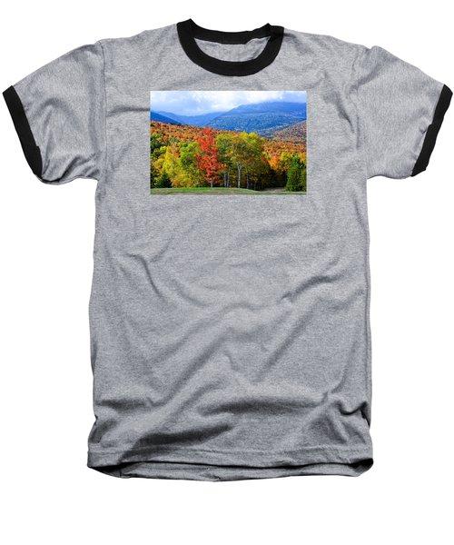 Autumn White Mountains Nh Baseball T-Shirt by Michael Hubley