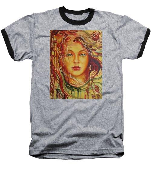 Autumn Wind 2 Baseball T-Shirt by Elena Oleniuc