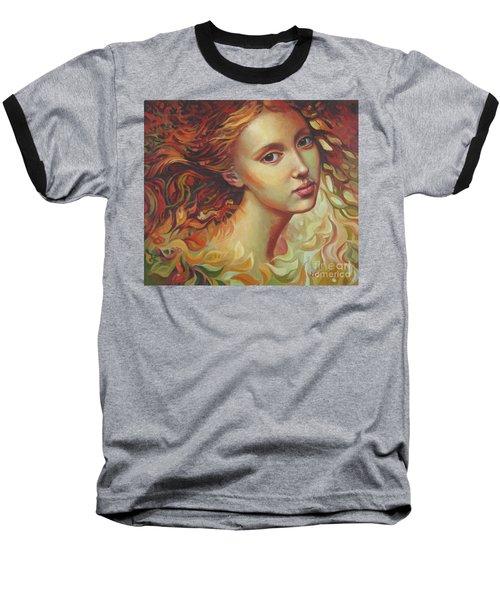 Autumn Wind Baseball T-Shirt by Elena Oleniuc
