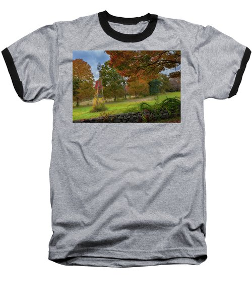 Baseball T-Shirt featuring the photograph Autumn Windmill by Bill Wakeley