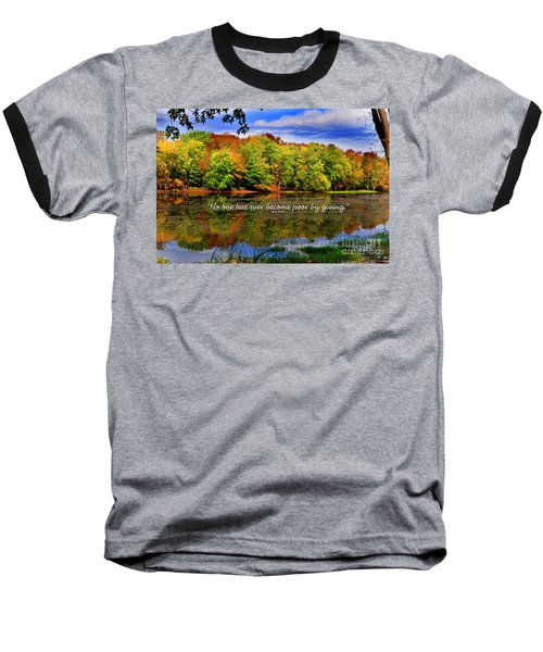 Autumn Wonders Giving Baseball T-Shirt by Diane E Berry