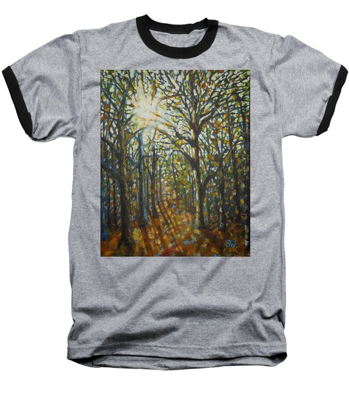 Autumn Wood Baseball T-Shirt