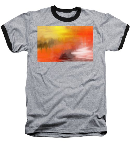Baseball T-Shirt featuring the digital art Autumnal Abstract  by Shelli Fitzpatrick