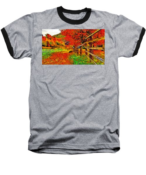 Autumnal Blaze Of Glory Baseball T-Shirt