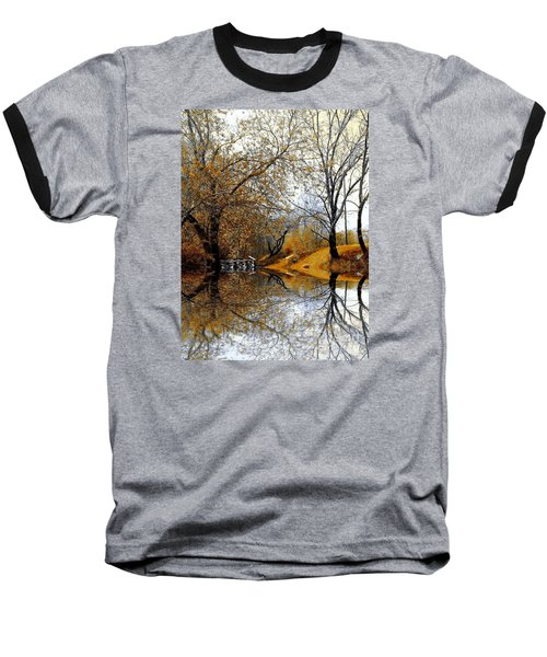 Autumnal Baseball T-Shirt by Elfriede Fulda