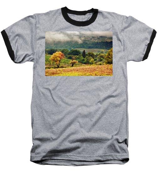 Autumnal Hills Baseball T-Shirt by Silvia Ganora