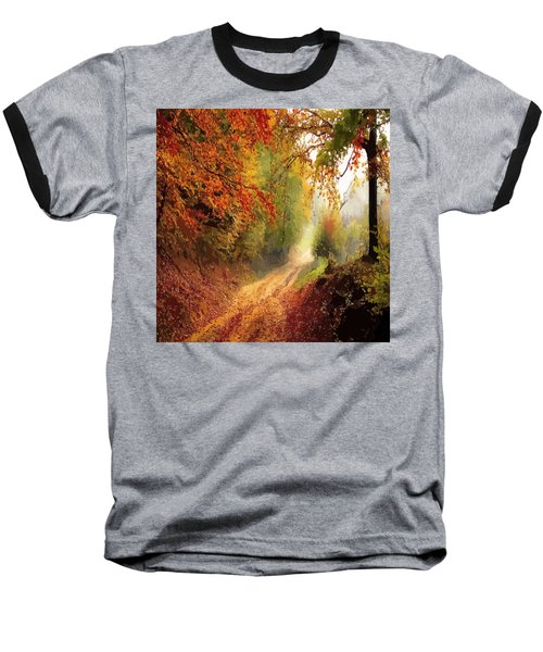 Autumnal Pathway Baseball T-Shirt