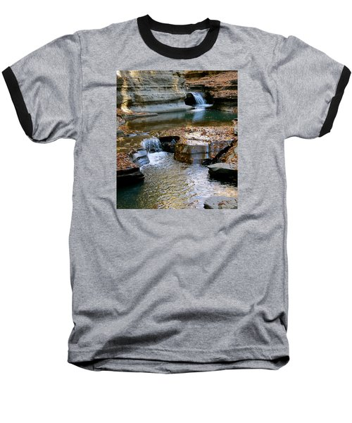 Autumnal Pool Baseball T-Shirt