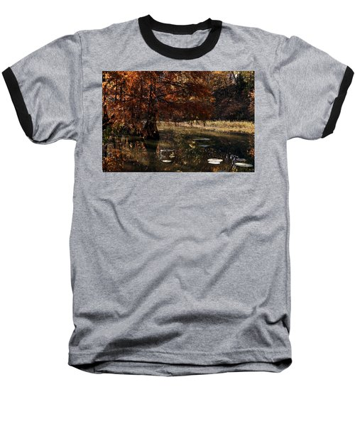 Baseball T-Shirt featuring the photograph Autumnal Solace At Lake Murray by Tamyra Ayles