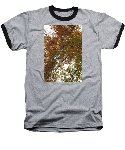 Baseball T-Shirt featuring the photograph Autumn's Abstract by Deborah  Crew-Johnson