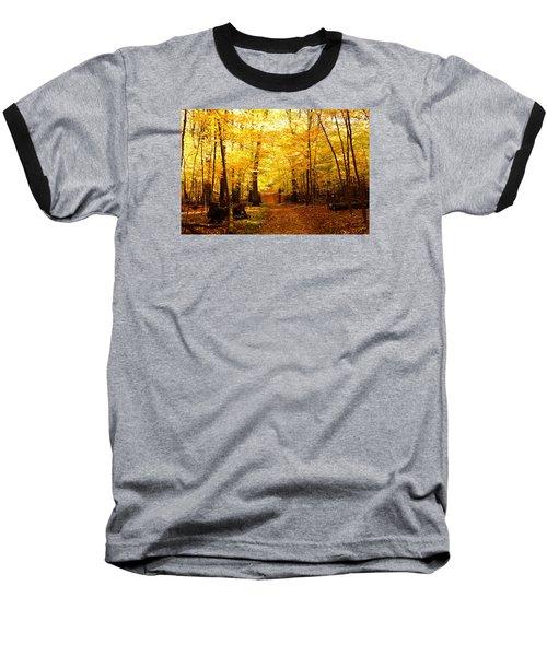 Autumns Blaze Baseball T-Shirt by Steven Clipperton