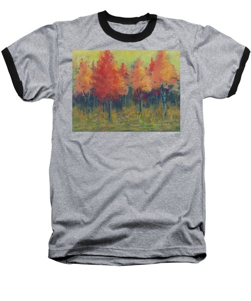 Autumn's Glow Baseball T-Shirt by Lee Beuther